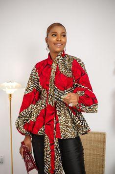 African Dresses For Kids, African Wear, African Attire, African Fashion, Fashion Women, Girl Fashion, Ankara Blouse, Ankara Tops, Ankara Styles