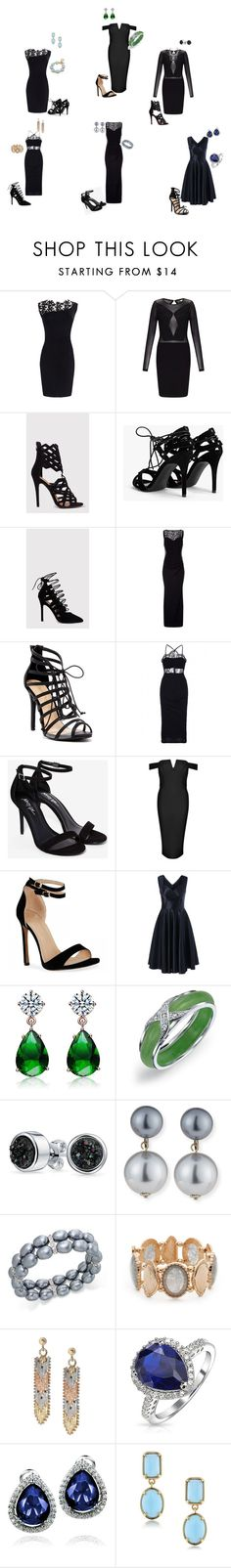 """Little black dress!"" by o-correacaines on Polyvore featuring Miss Selfridge, Boohoo, Liliana, Collette Z, Bling Jewelry, Kenneth Jay Lane, Charter Club, Ruby Rd., Mondevio and West Coast Jewelry"