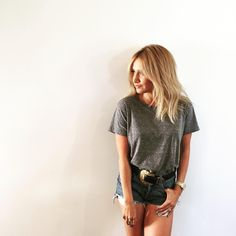 Short shorts and short hair  by: my favorite @kristin_ess