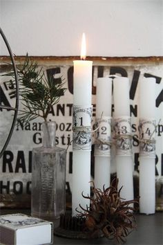 advent candles Jeanne d´Arc Living
