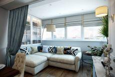 Кухня, совмещенная с балконом