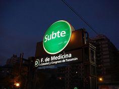 Buenos Aires, Argentina Subway (Subte) - Facultad de Medicina stop near Balvanera & Recoleta