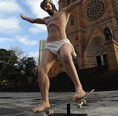 Contemporary sculpture of Jesus