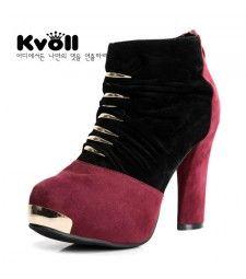 Modische Wildleder Winter gefutterte Stiefel Stiefelette High Heels Ankle Boots  Keilabsatz Neu