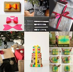 Tuesday tutorial: gift wrapping ideas