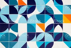 Retro pattern ceramic tiles in Rio de Janeiro, Brazil royalty-free stock photo