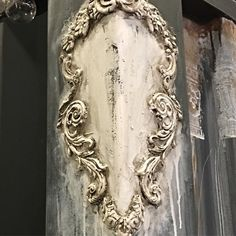 Who says a sea container cant be beautiful? Loving how finns rust paste goes with iod! Come see us at the prima booth, at 1609 for the… Orchard Design, Sea Containers, Iron Orchid Designs, Idee Diy, Decorative Panels, Vintage Crafts, Tampons, Vintage Shabby Chic, Beautiful Love