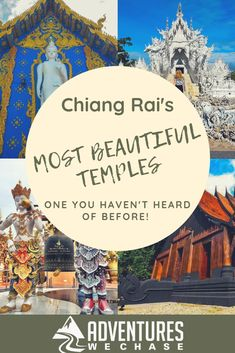 Chiang Rai Thailand is full of amazing artists and stunning temples. Discover the beautiful temples, including one you haven't heard of before! China Travel Guide, Thailand Travel Guide, Visit Thailand, Vietnam Travel, Asia Travel, Japan Travel, Thailand Destinations, Travel Destinations, Chiang Rai Thailand