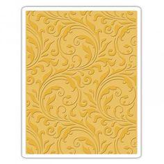 661822 tim holtz Sizzix Texture Fades Embossing Folder - Flourish