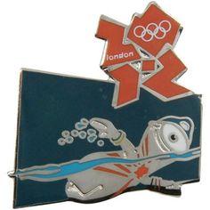 London 2012 Olympics Mascot Swimming Pin