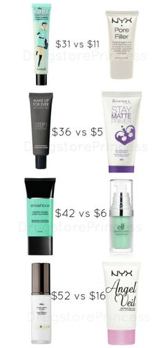 Face Primer Dupes for Your Skin! Not all face primers are created equal, but some have great, affordable dupes! Primer is a topic of conversation that I always see in my inbox, whether it's a dupe request or simply needing to know what primer will work b Makeup Goals, Love Makeup, Makeup Inspo, Makeup Inspiration, Makeup Geek, Cheap Makeup, Makeup App, Basic Makeup, Elf Makeup