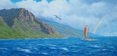 Ancient Polynesian navigators by Dave Paulley