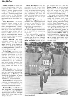 Profile of 10,000m events. From the official program for the 1976 Olympic Trials at Hayward Field. ©University of Oregon Libraries - Special Collections and University Archives