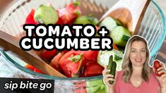 [WATCH VIDEO] Marinated Tomato and Cucumber Salad With Vinegar (MAKE AHEAD) | sipbitego.com #sipbitego #recipe #easyrecipe #dinner #familymeals #easymeals #wfhlunch #vegetables #tomatoes #vegetablegarden #cucumbers #vinegar #salad #makeahead #video #recipevideo Marinated Tomatoes, Make Ahead Salads, Cucumber Salad, Watch Video, Food Videos, Vinegar, Easy Meals, Tasty, Lunch
