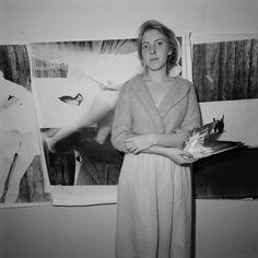 Francesca em seu estúdio, 1978