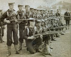 Royal Navy landing party with Lee Metford rifles