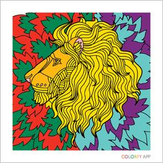 Tribute to Cecil the Lion. Lion from Colorfy. Coloring Apps, Colouring Pages, Adult Coloring, Coloring Books, Coloring Stuff, Color Fly, Colorfy App, Manga, My Drawings