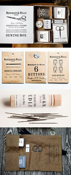 Merchant & Mills, England - sewing resources #brand #identity #packaging