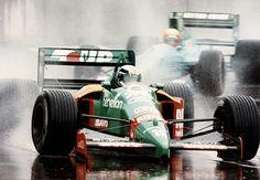 Alessandro Nannini heading Mauricio Gugelmin in the 1989 Australian Grand Prix in Adelaide.