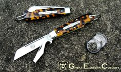 #15 Tidioute Cutlery Beer Scout Knife in Tortoise Shell Acrylic