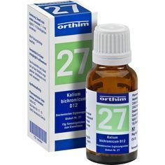 BIOCHEMIE Globuli 27 Kalium bichromicum D 12:   Packungsinhalt: 15 g Globuli PZN: 09490804 Hersteller: Orthim KG Preis: 4,49 EUR inkl. 19…
