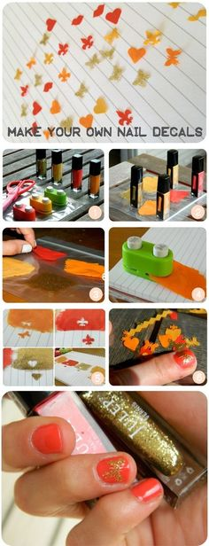 Make your own nail decals - diyforever on imgfave