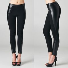 Beside Yourself Leggings http://www.vanityrow.com/collections/new/products/beside-myself-leggings #beside #yourself #leggings #leather #vanity #vanityrow #dresstokill #rockervogue