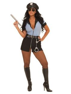 Halloween Police Cosplay Dress Sexy Women Alluring Cop Costume Outfit - L #Sexy Cop Halloween Costumes | Sexy Cop Halloween Costumes | Pinterest | Cop ...  sc 1 st  Pinterest & Halloween Police Cosplay Dress Sexy Women Alluring Cop Costume ...