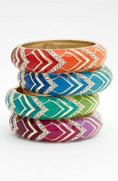 Sequin bangle bracelet
