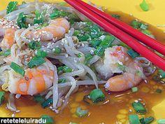 Wasabi sauce shrimps Wok, Wasabi Sauce, Japanese Food, Shrimp, Seafood, Clean Eating, Gadgets, Meat, Fine Dining