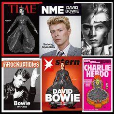 """Nog meer Bowie magazine covers: kunstwerkjes zijn het! WORLDWIDE BOWIE PRESS """"I can see the magazines…"""""""