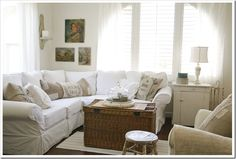 rustic/white living room
