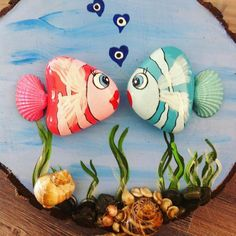 Painted rocks diy - Talent and imagination 25 creative diy ideas for transforming pebbles in decorative objects – Painted rocks diy Pebble Painting, Pebble Art, Stone Painting, Painting Art, Seashell Crafts, Beach Crafts, Stone Crafts, Rock Crafts, Rock Painting Designs