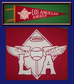 #vintage los angeles angels baseball pennant ! from $90.0
