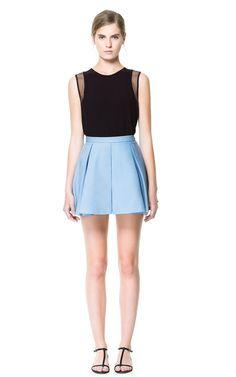 PLEATED MINI SKIRT - Skirts - Woman   ZARA United States
