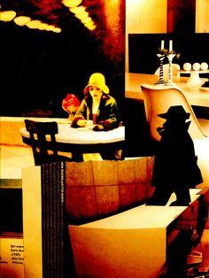 Il Commissario Maigret...E la Signorina Hopper #Copertine inesistenti design Toto Dinoi / #ArteDigitale/#SmartPhoneArt #Collage #AdelphiEdizioni  #LibriMondadori