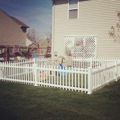 Ducks in a row in home daycare...safe area for 2 and under children. Fence within a fence