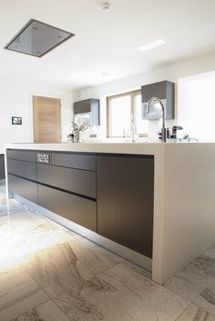 Grey Marble Kitchen floor