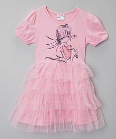 Look what I found on #zulily! Pink Girl & Butterfly Dress - Infant & Toddler by Poco & Picotine #zulilyfinds