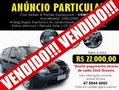 Clio Sedan 4 portas Expression - Completo