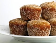 "I found these Apple Cider Muffins on Pinterest - These are baked (as opposed to fried) ""donut holes"" or mini muffins. They're so delicious - and a bit healthier than the fried ones - you've got to try these."