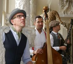 A unique jazz act join us today, London based vintage act Hussey and the Hounds.