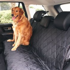 Pet Car Seat Cover Dog Seat Cover Hammock WaterProof Seat Anchors Convertible   #BarksBar