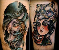 Featured Tattoo Artist: Kelly Doty - http://sicktattoos.org/featured-tattoo-artist-kelly-doty/