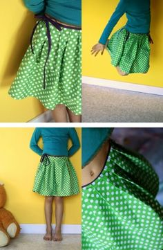 Green Polka Dot Skirt :)
