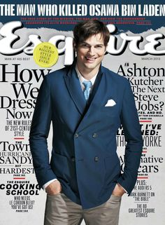 Ashton Kutcher - Esquire Magazine Cover [United States] (March 2013)