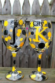 Personalized Wine Glass Pittsburgh Steelers 20oz by ahindle78