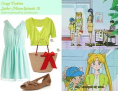 Like Sailor Moon Outfits on Facebook! Forever 21 rhinestoned flower studs in Silver/Mint Kate Spade Point Breeze small coal bag Old Navy cropped cardigan in Electric Co Neon ModCloth Good To See You dress Miss Selfridge Elfin Tan cross over peep shoe in Tan