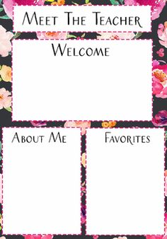 Meet the teacher template letter teacher for Free meet the teacher template