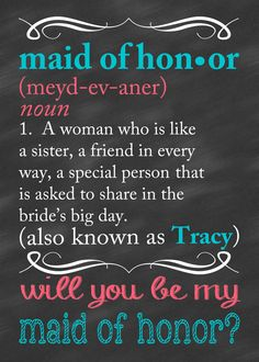 Bridesmaid Card Will You Be My Bridesmaid Card by CLaceyDesign